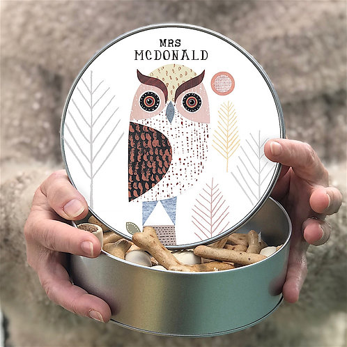 Personalised 'Wise Owl' Tin
