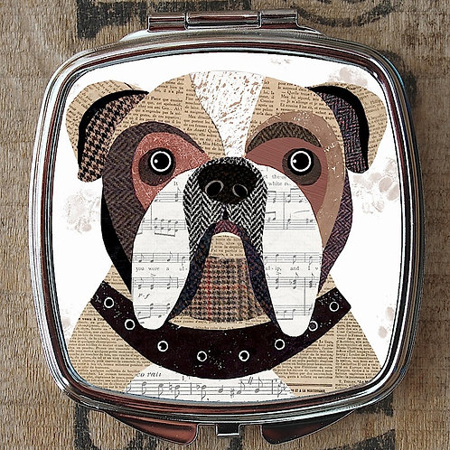 English Bulldog Compact Mirror