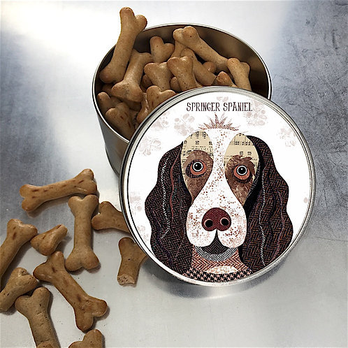 Springer Spaniel Dog Tin