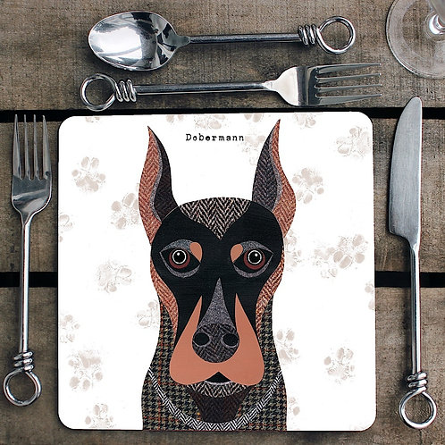 Dobermann Placemat/Coaster