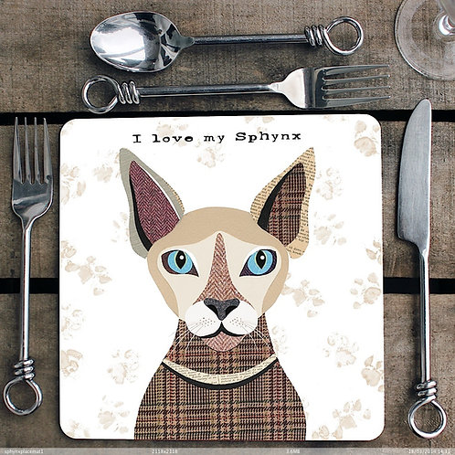 Sphynx cat Placemat