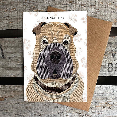 PAW51 Shar Pei Dog Card