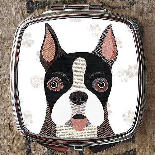 Boston terrier Compact Mirror