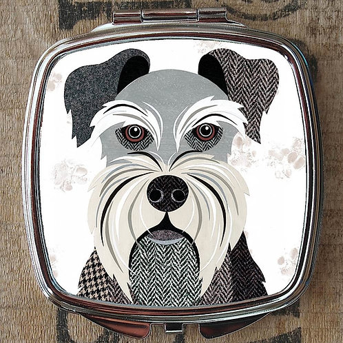 Mini Schnauzer Dog Compact Mirror