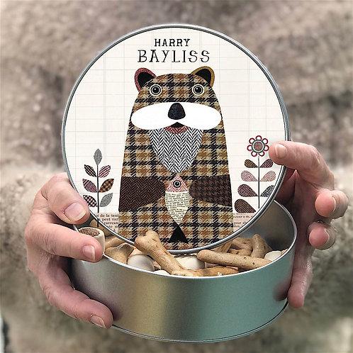 Personalised Tweed Otter Tin