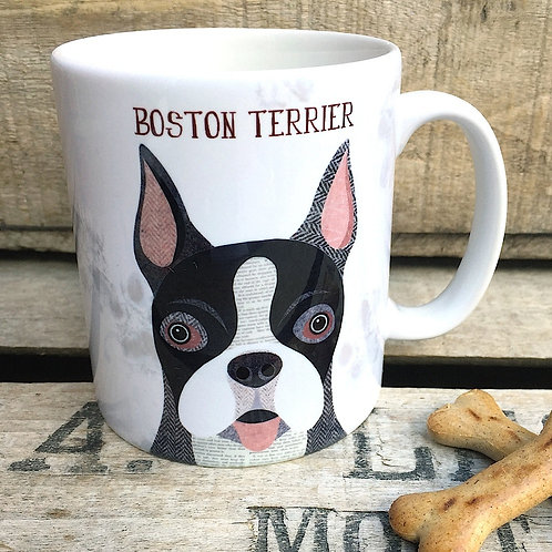 Boston terrier dog mug