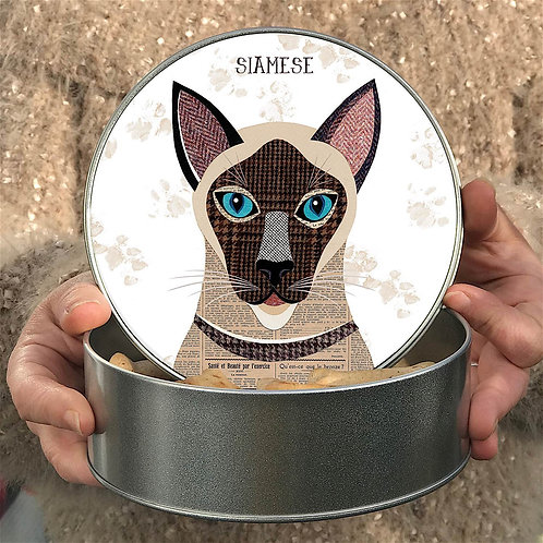 Personalised Siamese Cat Tin
