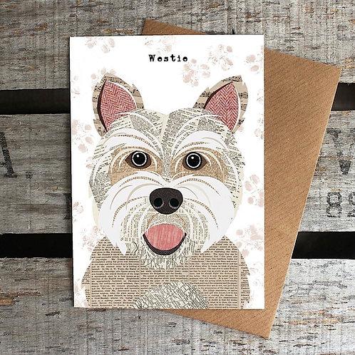 PAW37 - Westie Dog Card