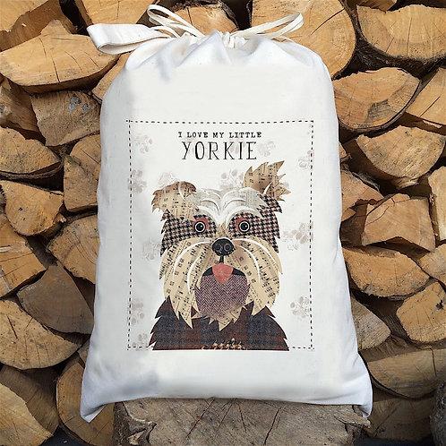 Yorkshire Terrier Dog Personalised Large Drawstring Sack