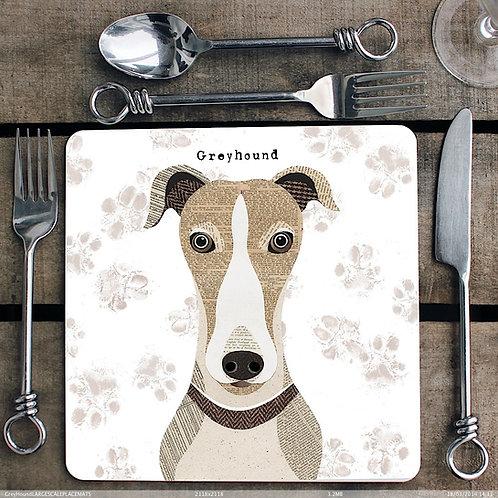 Greyhound Placemat/Coaster