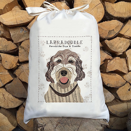 Labradoodle Dog Sack by Simon Hart