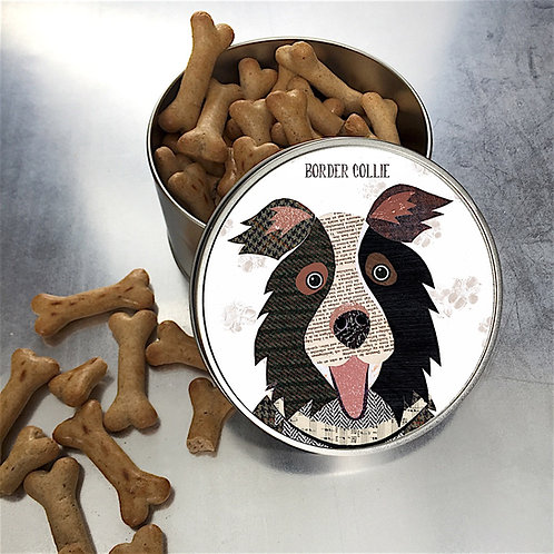 Border Collie Dog Tin