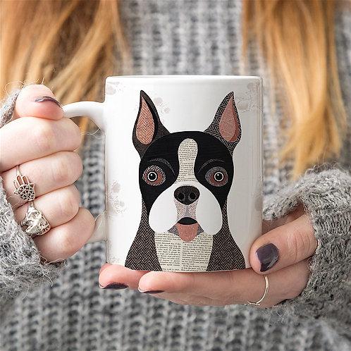 Boston terrier dog mug