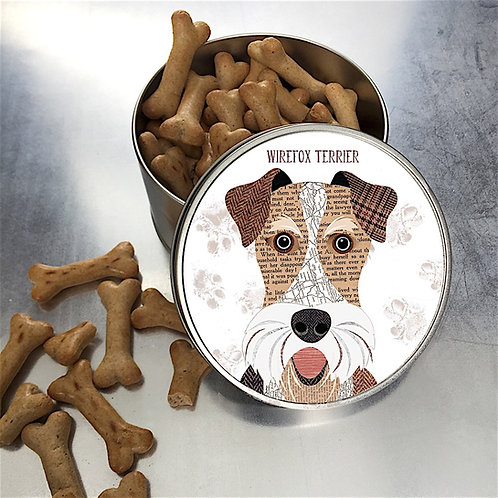 Wirefox terrier Dog Tin