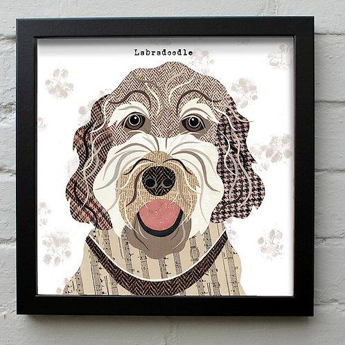 Labradoodle Dog Art Print