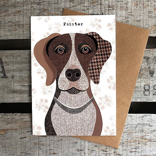PAW49 Pointer Dog Card
