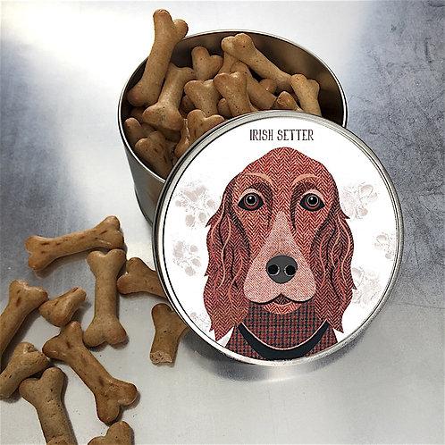 Irish Setter Dog Tin