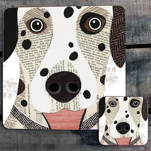 Dalmatian close up Placemat/Coaster