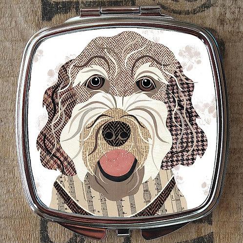 Labradoodle Dog Compact Mirror