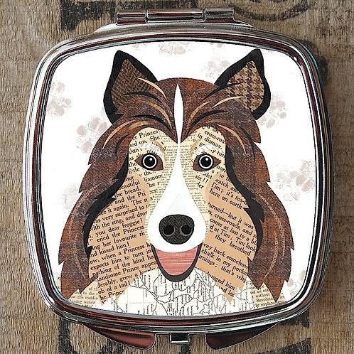 Shetland Sheepdog Compact Mirror