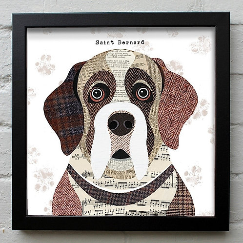 Saint Bernard Dog Art Print