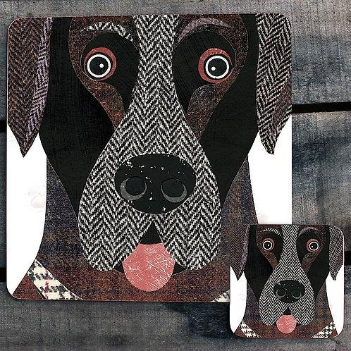Labrador close up Placemat/Coaster