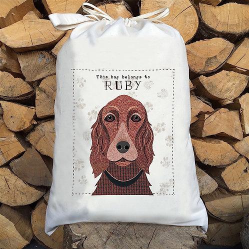 Irish Setter Dog Sack by Simon Hart