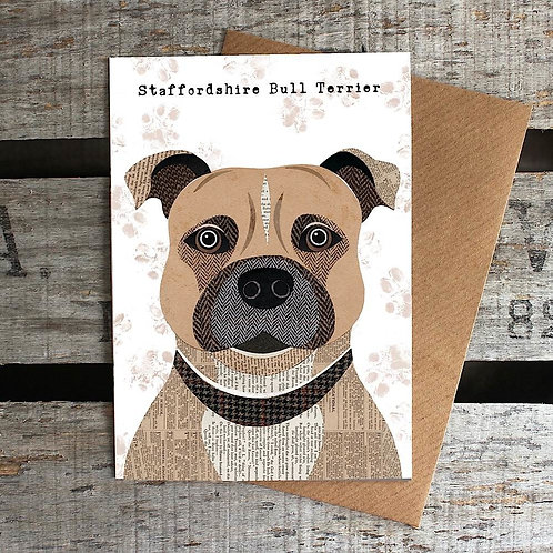 PAW35 - Staffordshire Bull Terrier Card