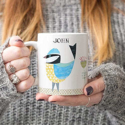 Blue Tit Personalised Mug