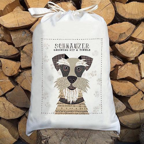 Schnauzer Dog Personalised Large Drawstring Sack