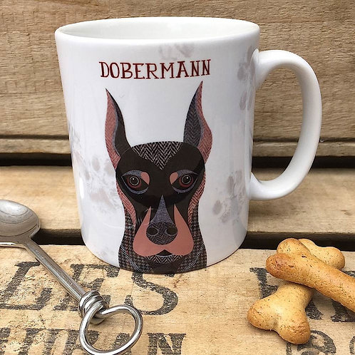 Dobermann dog mug