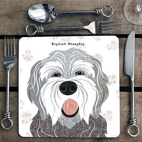 English Sheepdog Placemat/Coaster