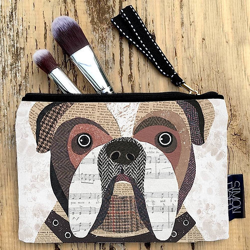 English Bulldog Canvas Purse