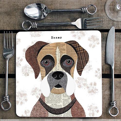 Boxer Dog Placemat/Coaster