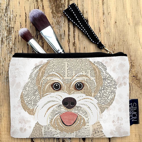 Bichon Frise dog Canvas Purse