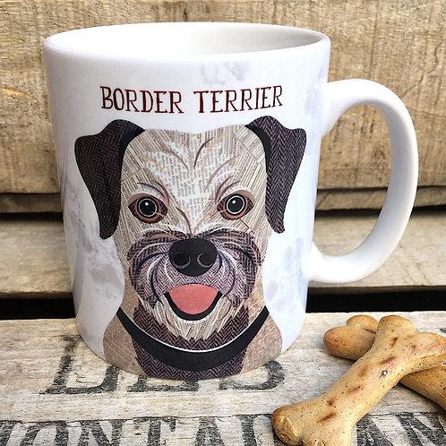 Border terrier dog mug