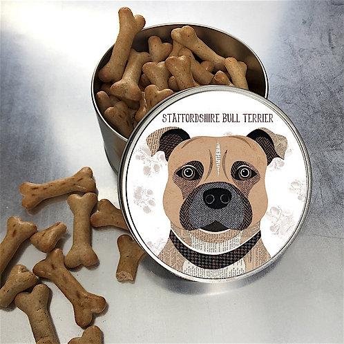 Staffie Dog Tin