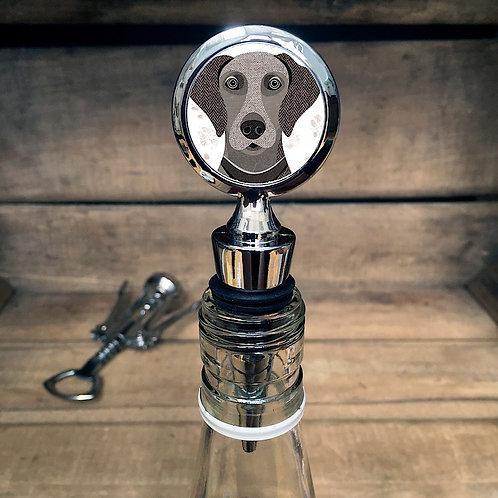 Weimaraner Dog Bottle Stopper