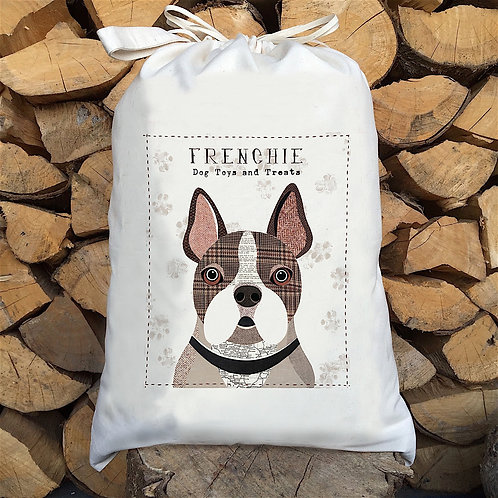 French Bulldog 'Frenchie' Personalised Large Drawstring Sack