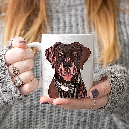 Brown Labrador dog mug