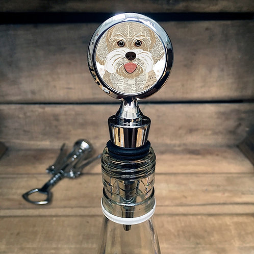 Bichon Frise Dog Bottle Stopper