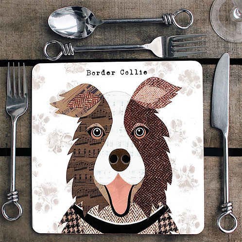 Brown Collie dog  Placemat/Coaster