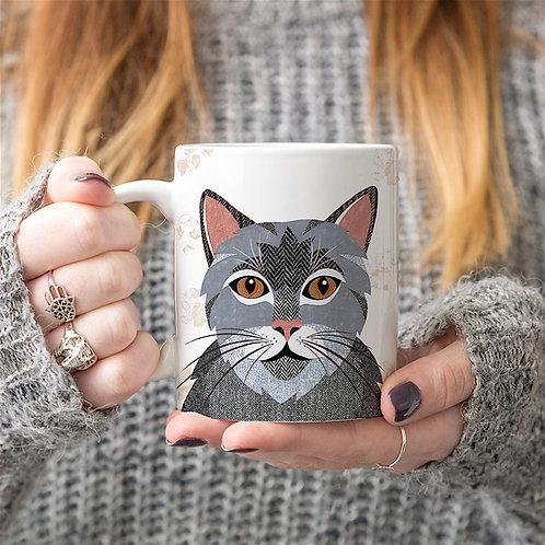 Grey Tabby Cat Mug