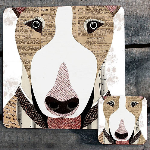 English Bull Terrier close up Placemat