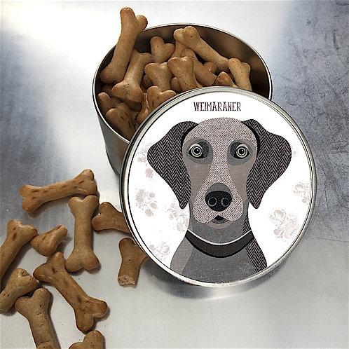 Weimaraner Dog Tin