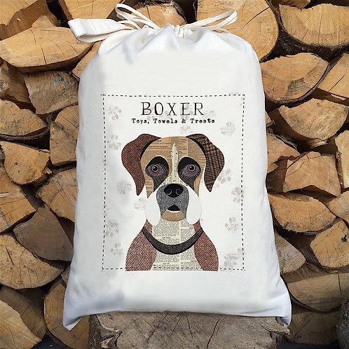 Boxer Dog Personalised Large Drawstring Sack
