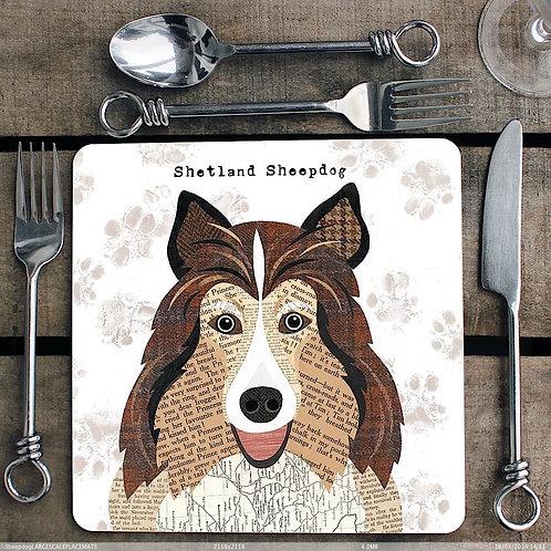 Shetland Sheepdog Placemat/Coaster