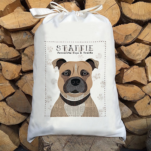 Staffie Dog Sack by Simon Hart