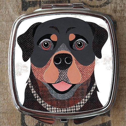 Rottweiler Dog Compact Mirror