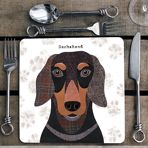 Dachshund Placemat/Coaster